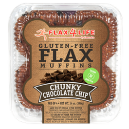 Flax4Life Chunky Chocolate Chip Flax Muffins (Pkg of 4)