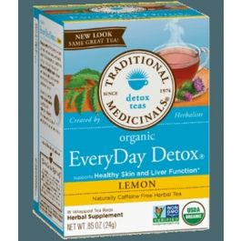 Traditional Medicinals Organic EveryDay Detox Lemon Tea (1 Box of 16 Packets)