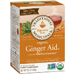 Traditional Medicinals Organic Ginger Aid Tea (1 Box of 16 Packets)