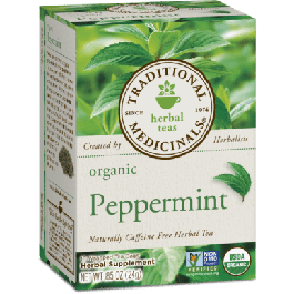Traditional Medicinals Organic Peppermint Tea (1 Box of 16 Packets)
