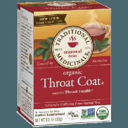 Traditional Medicinals Organic Throat Coat Tea (1 Box of 16 Packets)