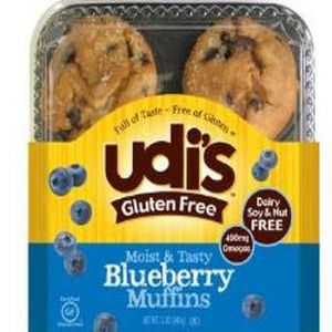 Udi's Blueberry Muffin Frozen (4 per Pkg)