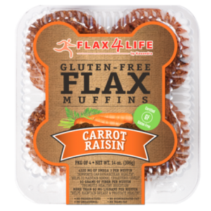Flax4Life Carrot Raisin Flax Muffins Frozen (Pkg of 4)