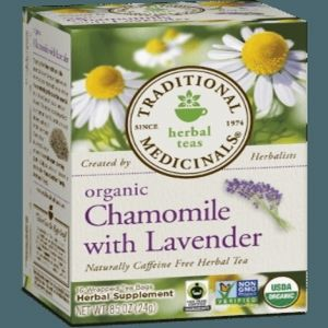 Traditional Medicinals Organic Chamomile with Lavender Tea (1 Box of 16 Packets)