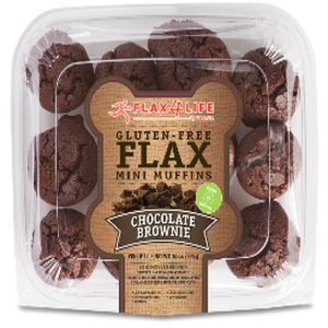 Flax4Life Mini Chocolate Brownies Frozen (Pkg of 12)