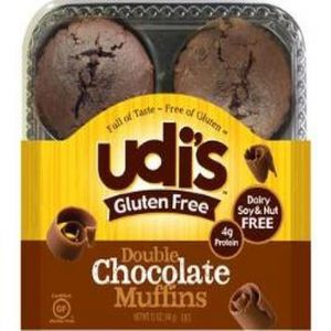 Udi's Double Chocolate Muffins Frozen (4 per Pkg)