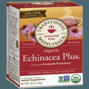 Traditional Medicinals Organic Echinacea Plus Tea (1 Box of 16 Packets)