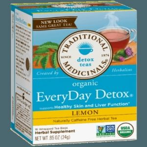 Traditional Medicinals Organic EveryDay Detox Lemon Tea (1 Box of 16 Packets)