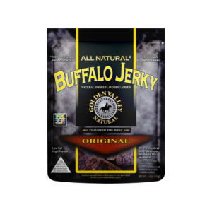 All Natural Buffalo Jerky Original (3oz. Bag)