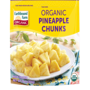 Organic Pineapple Chunks Frozen (10oz. Bag)