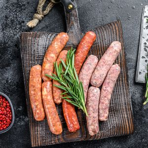 Pork Brat - Mushroom & Swiss
