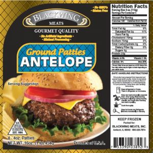 Antelope Patties 10-4/4oz.