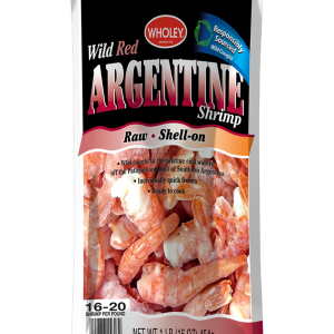 Wholey Wild Red Argentine Shrimp Shell-On