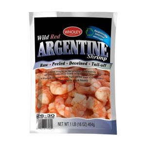 Wholey Wild Red Argentine Shrimp Tail-off