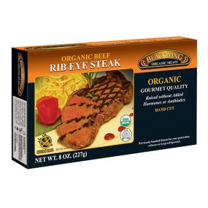 Organic Beef Rib Eye Steak 10/8oz.