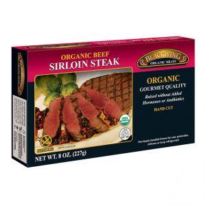 Organic Beef Sirloin Steaks 10/8oz.