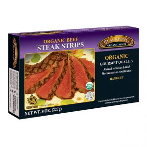 Organic Beef Steak Strips 10/8oz.