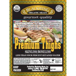 Organic Chicken Thigh Boneless/Skinless 10lb. Catch Weight