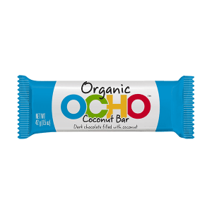 Ocho Organic Dark Chocolate Coconut Bar