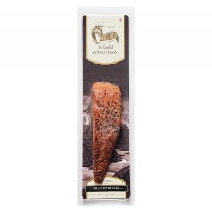 Echo Falls Hot Smoked Coho Salmon Cracked Pepper 4oz Fillet