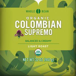 Cameron's Organic Colombian Supremo Whole Bean Coffee