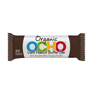 Ocho Organic Dark Chocolate Peanut Butter Bar