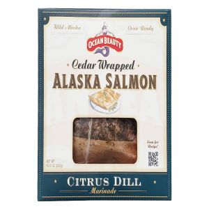 Ocean Beauty Cedar Wrapped Wild Alaska Salmon in Citrus Dill Marinade 10oz Fillet