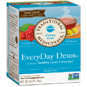 Traditional Medicinals EveryDay Detox Tea (1 Box of 16 Packets)