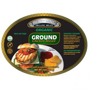 Organic Chicken Breast Ground 10/12oz.
