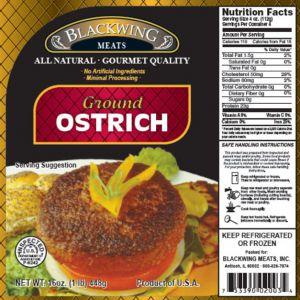 Ostrich Ground 10/1lb.