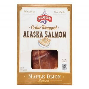 Ocean Beauty Cedar Wrapped Wild Alaska Salmon in Maple Dijon Marinade 10oz Fillet