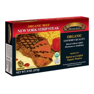 Organic Beef NY Strip Steak 10/8oz.