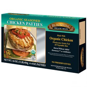 Organic Chicken Patties Seasoned 10-4/4oz.