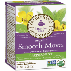 Traditional Medicinals Organic Smooth Move Peppermint Tea (1 Box of 16 Packets)