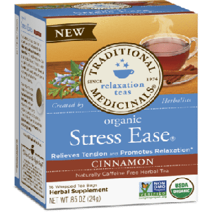 Traditional Medicinals Organic Stress Ease Cinnamon Tea (1 Box of 16 Packets)