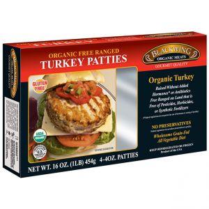 Organic Turkey Patties Seasoned 10-4/4oz.