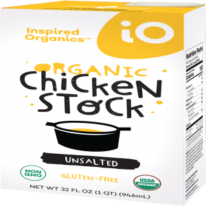 Inspired Organics (iO) Organic Chicken Stock Unsalted 32oz