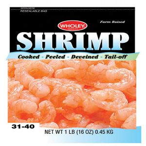 Wholey Cooked Shrimp Tail-Off 31-40 pieces