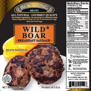 Wild Boar Breakfast Sausage 1lb
