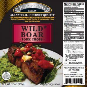 Wild Boar Chops 10-2/6oz.
