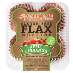 Flax4Life Apple Cinnamon Flax Muffins (Pkg of 4)