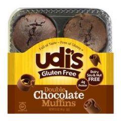 Udi's Double Chocolate Muffins Frozen (4 per Pkg)