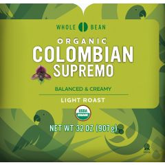 Cameron's Organic Colombian Supremo Whole Bean Coffee