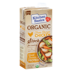 Kitchen Basics Organic Free-Range Chicken Stock (32oz. Box)