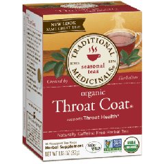 Traditional Medicinals Organic Throat Coat Tea (1 Box of 16 Packets)