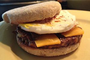 Walnut Burger Breakfast Egg Muffin