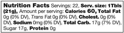Honey Nutritional Info